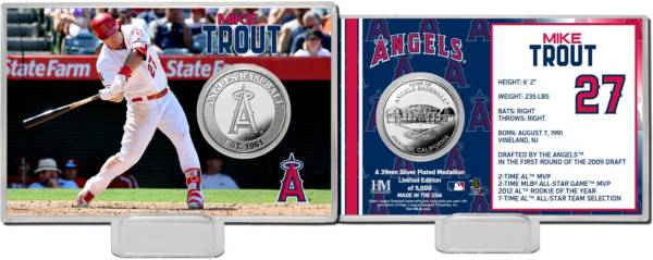 Highland Mint Los Angeles Angels Mike Trout Silver Coin Card product image