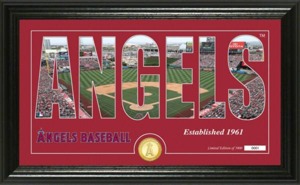 Highland Mint Los Angeles Angels Silhouette Panoramic Bronze Coin Photo Mint product image