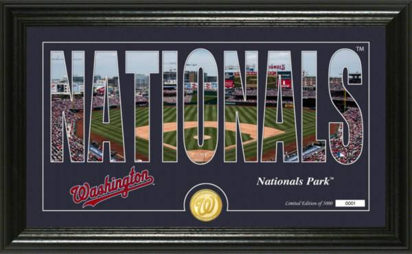 Highland Mint Washington Nationals Silhouette Panoramic Bronze Coin Photo Mint product image
