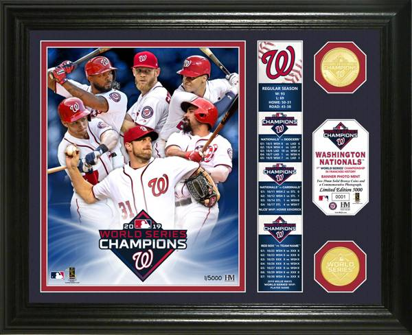 Highland Mint 2019 World Series Champions Washington Nationals Banner Collection Photo Mint product image