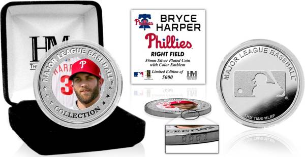 Highland Mint Philadelphia Phillies Bryce Harper Silver Color Coin product image