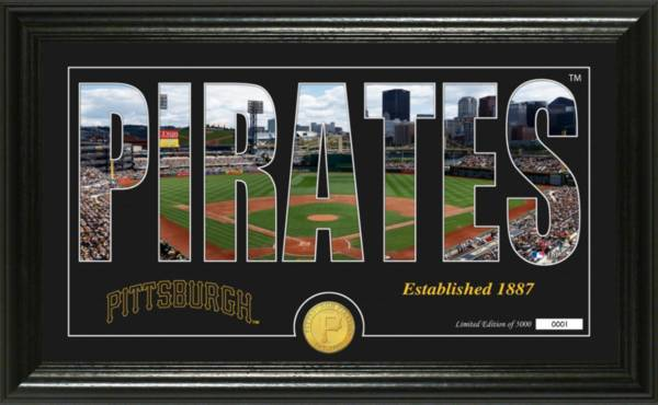Highland Mint Pittsburgh Pirates Silhouette Panoramic Bronze Coin Photo Mint product image