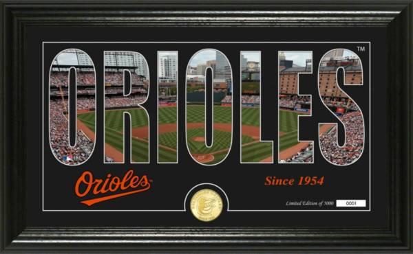 Highland Mint Baltimore Orioles Silhouette Panoramic Bronze Coin Photo Mint product image