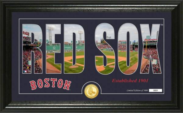 Highland Mint Boston Red Sox Silhouette Panoramic Bronze Coin Photo Mint product image