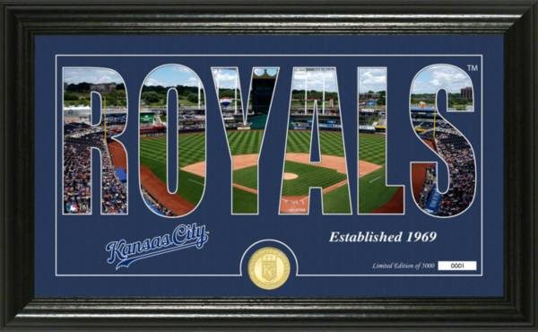 Highland Mint Kansas City Royals Silhouette Panoramic Bronze Coin Photo Mint product image