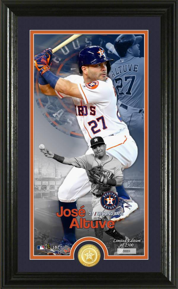 "Highland Mint Houston Astros Jose Altuve ""Elite Series"" Minted Coin Photo Mint product image"