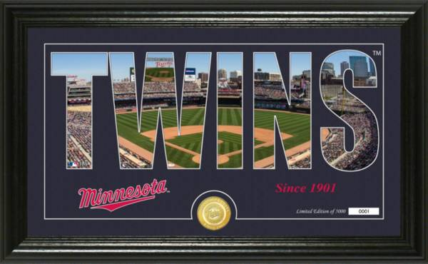 Highland Mint Minnesota Twins Silhouette Panoramic Bronze Coin Photo Mint product image