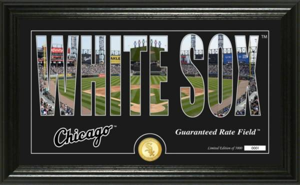Highland Mint Chicago White Sox Silhouette Panoramic Bronze Coin Photo Mint product image