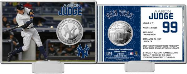 Highland Mint New York Yankees Aaron Judge Silver Coin Card product image
