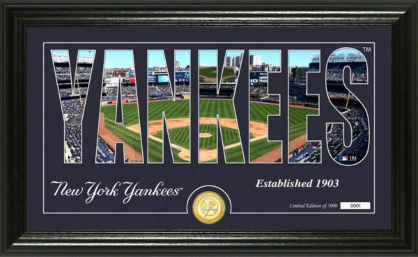 Highland Mint New York Yankees Silhouette Panoramic Bronze Coin Photo Mint product image
