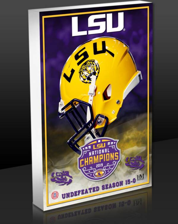 Highland Mint 2019 National Champions LSU Tigers 3D BlocKart product image