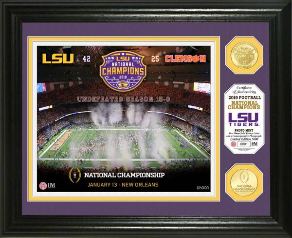 Highland Mint 2019 National Champions LSU Tigers Bronze Coin Photo Mint product image