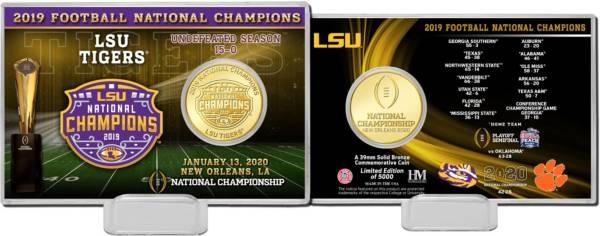 Highland Mint 2019 National Champions LSU Tigers Coin Card product image