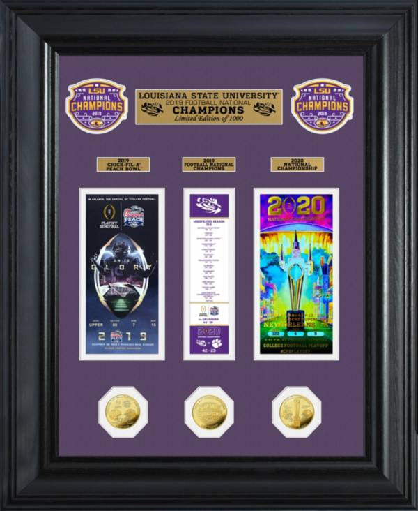 Highland Mint 2019 National Champions LSU Tigers Deluxe Ticket Frame product image