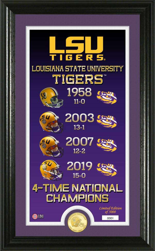 Highland Mint 4-Time National Champions LSU Tigers Legacy Bronze Coin Photo Mint product image