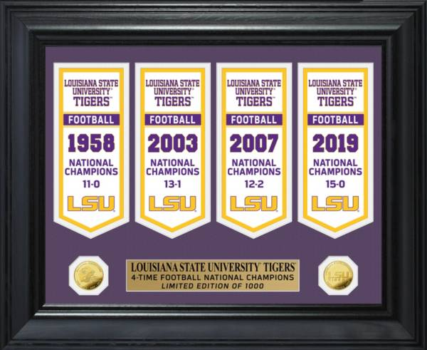 Highland Mint 2019 National Champions LSU Tigers Gold Coin Deluxe Banner Collection product image