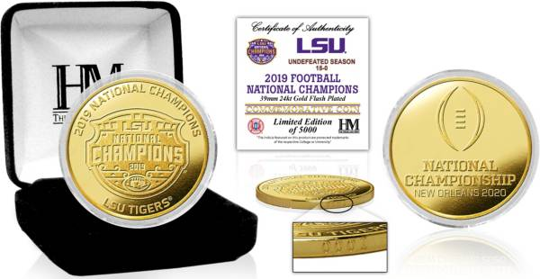 Highland Mint 2019 National Champions LSU Tigers Minted Gold Coin product image