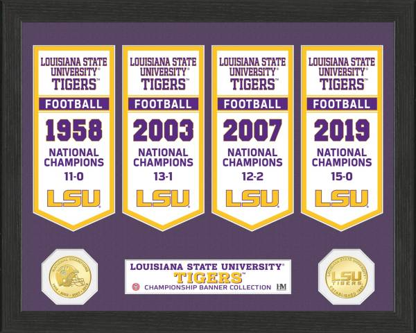 Highland Mint 2019 National Champions LSU Tigers Bronze Coin Deluxe Banner Collection product image