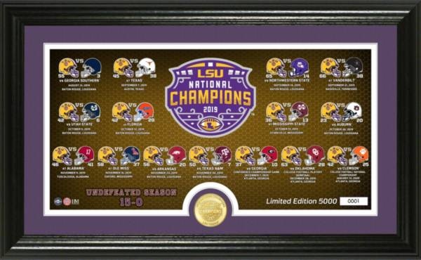 Highland Mint 2019 National Champions LSU Tigers Panoramic Bronze Coin Photo Mint product image