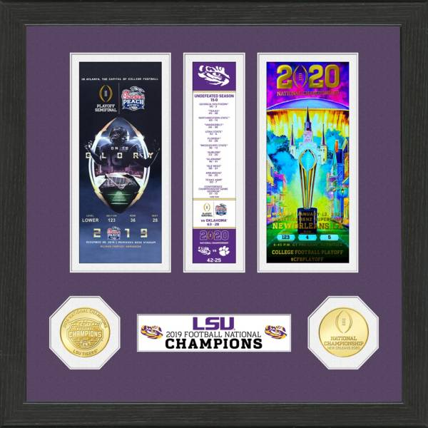 Highland Mint 2019 National Champions LSU Tigers Standard Ticket Frame product image