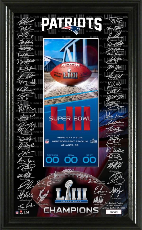 Highland Mint Super Bowl LIII Champions New England Patriots Signature Ticket Frame product image