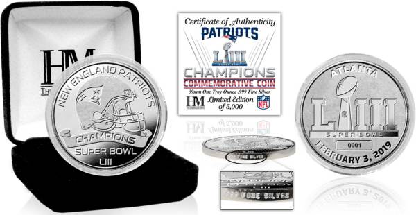 Highland Mint Super Bowl LIII Champions New England Patriots Pure Silver Mint Coin product image