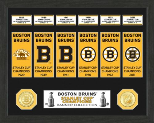Highland Mint Boston Bruins Stanley Cup Banner Collection Photo Mint ... 97fe8d914