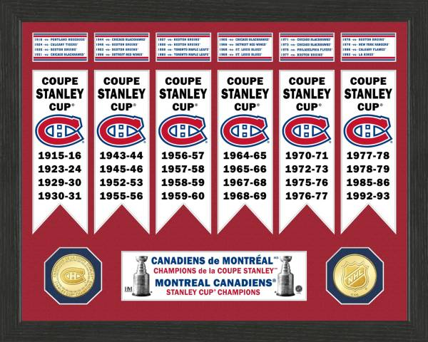 Highland Mint Montreal Canadiens Stanley Cup Banner Collection Photo Mint product image