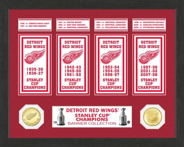 Highland Mint Detroit Red Wings Stanley Cup Banner Collection Photo Mint product image