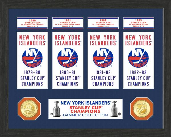 Highland Mint New York Islanders Stanley Cup Banner Collection Photo Mint product image