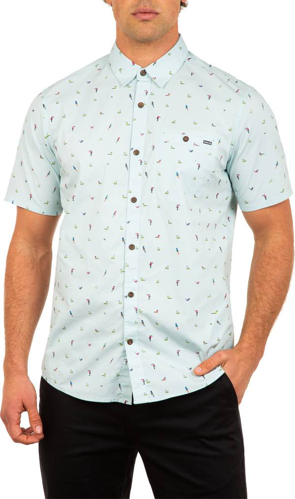 Hurley Men's Birds Stretch Short Sleeve Shirt product image