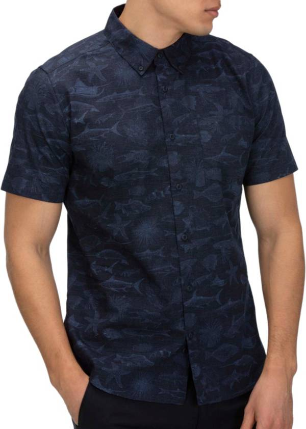 Hurley Men's Gone Fishin Short Sleeve Button Down Shirt product image