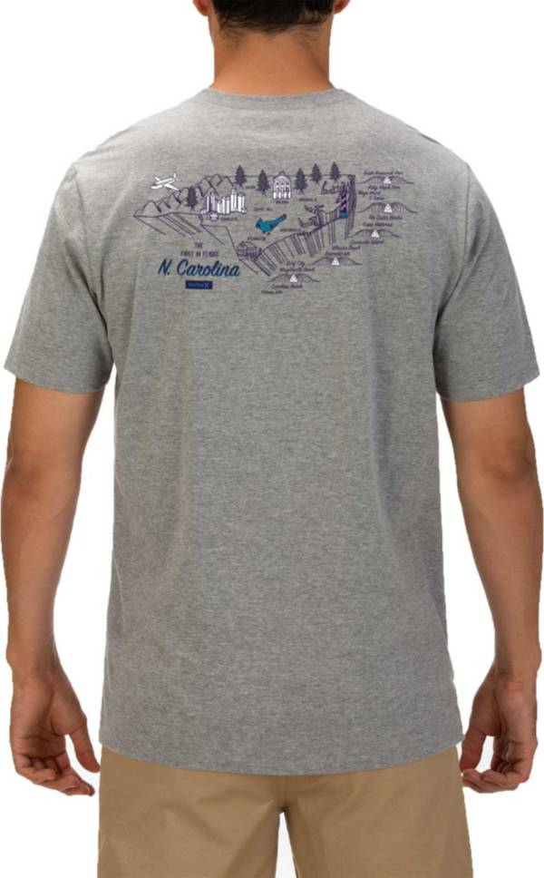 Hurley Men's North Carolina 3D Mapstee T-Shirt product image