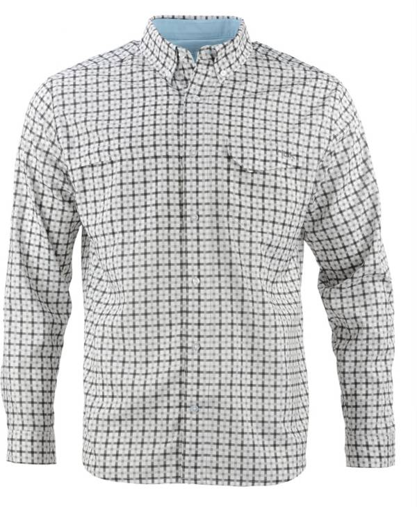 HUK Men's Tide Point Woven Plaid Button Down Long Sleeve Shirt product image