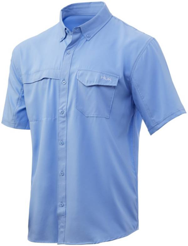 Huk Men's Tide Point Woven Solid Short Sleeve Button Down Shirt product image