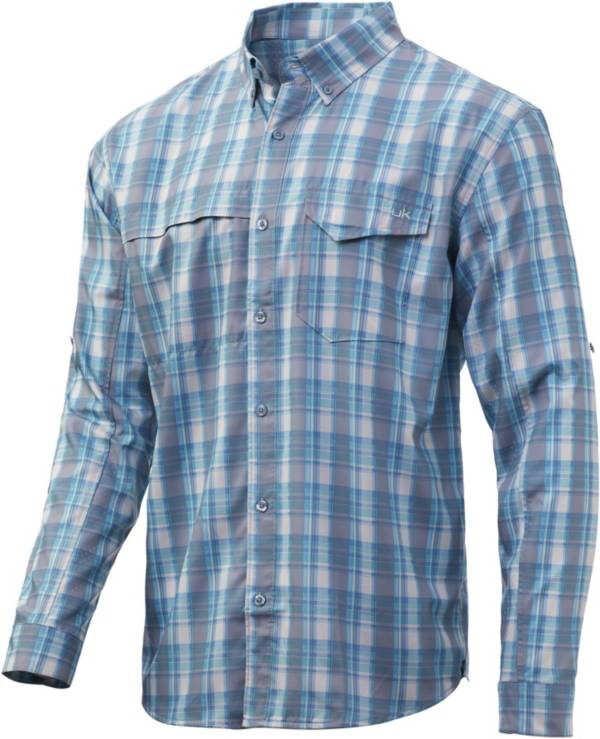 Huk Men's Tidepoint Woven Plaid Long Sleeve Shirt product image
