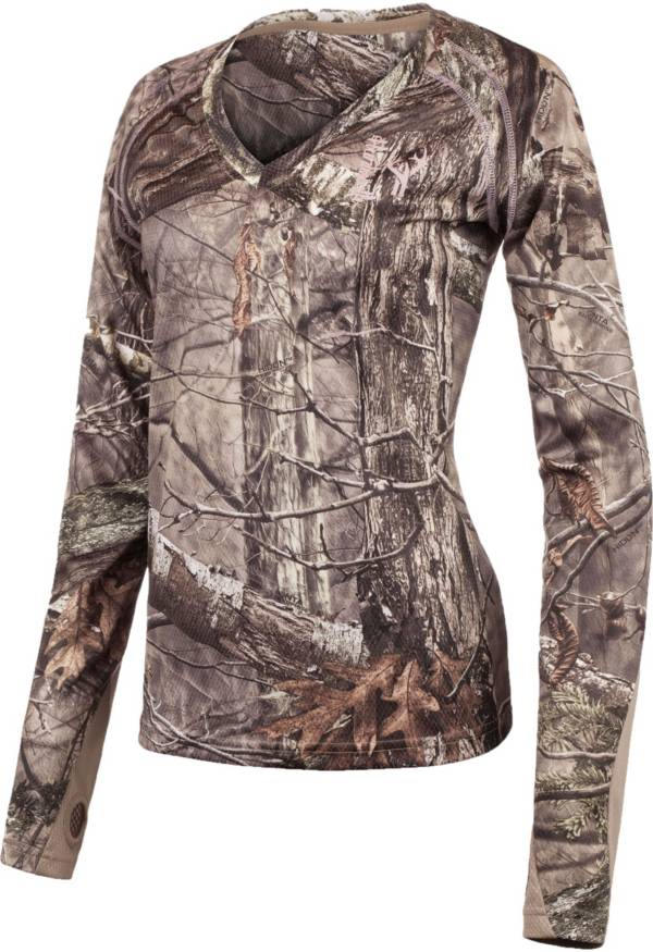 Huntworth Women's Terry Knit 1/4 Zip Long Sleeve Shirt product image