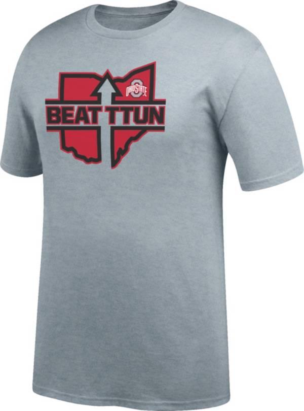 Scarlet & Gray Men's Ohio State Buckeyes Gray 'Beat TTUN' T-Shirt product image