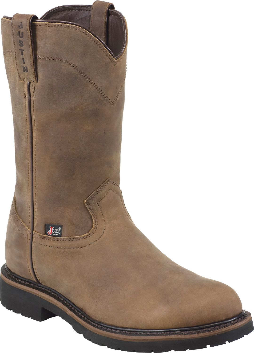 8838a83c4d6 Justin Men's Drywall Pull-On Steel Toe EH Work Boots