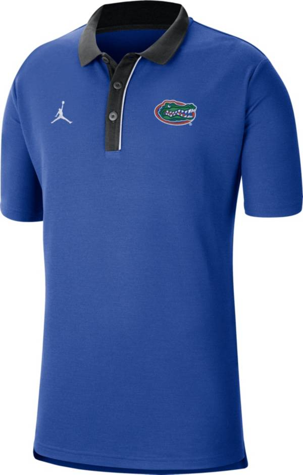 Jordan Men's Florida Gators Blue Team Football Sideline Polo product image