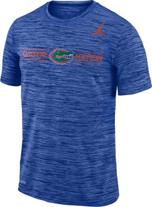 Jordan Men's Florida Gators Blue Velocity 'Gator Nation' Football T-Shirt product image