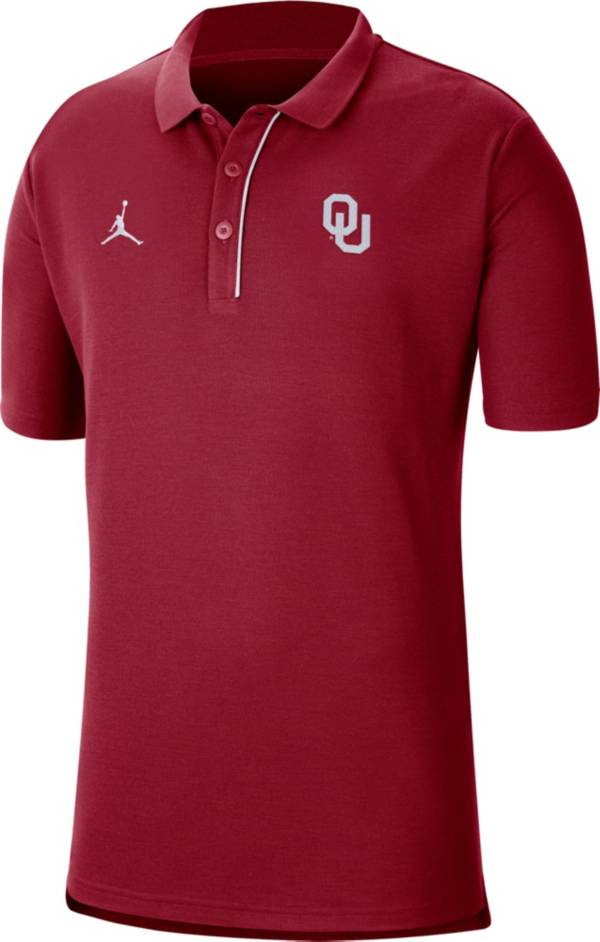 Jordan Men's Oklahoma Sooners Crimson Team Football Sideline Polo product image