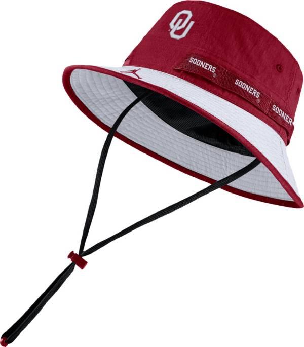 Jordan Men's Oklahoma Sooners Crimson Dri-FIT Sideline Bucket Hat product image