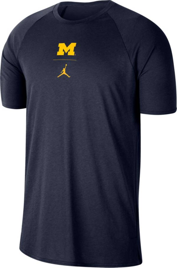 Jordan Men's Michigan Wolverines Blue 23 Alpha T-Shirt product image