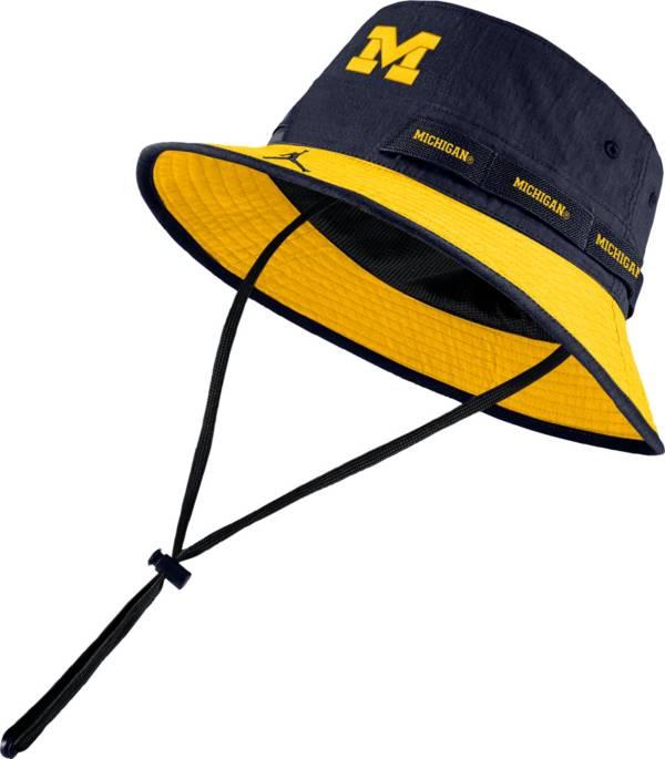 Jordan Men's Michigan Wolverines Blue Dri-FIT Sideline Bucket Hat product image