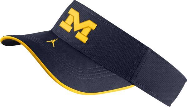 Jordan Men's Michigan Wolverines Blue Aero Football Sideline Visor product image