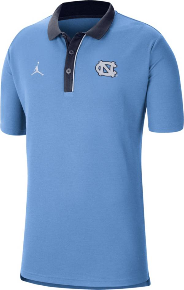 Jordan Men's North Carolina Tar Heels Carolina Blue Team Football Sideline Polo product image