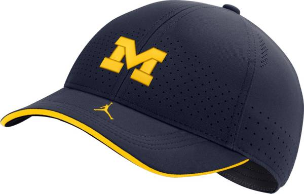 Jordan Men's Michigan Wolverines Blue AeroBill Classic99 Football Sideline Hat product image