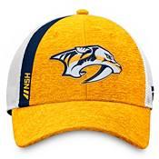NHL Men's Nashville Predators Authentic Pro Locker Room Yellow Trucker Hat product image
