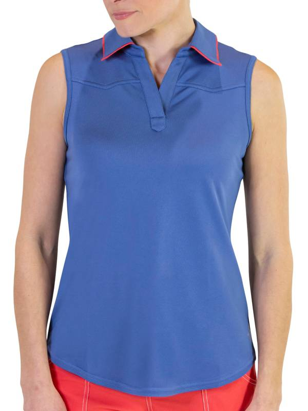Jofit Women's Dixie Tipped Sleeveless Golf Polo product image